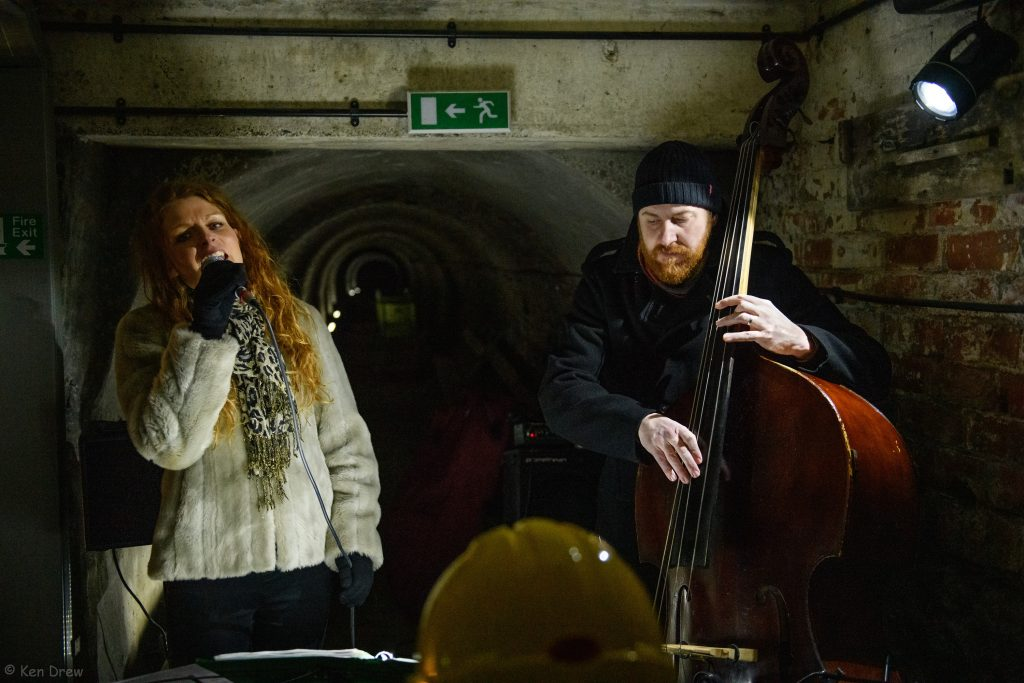 Sounds of the Underground in the Victorian Tunnel, Ouseburn, Newcastle. 19th January 2019. With Zoe Gilby & Andy Champion. Promoted by the Ouseburn Trust.
